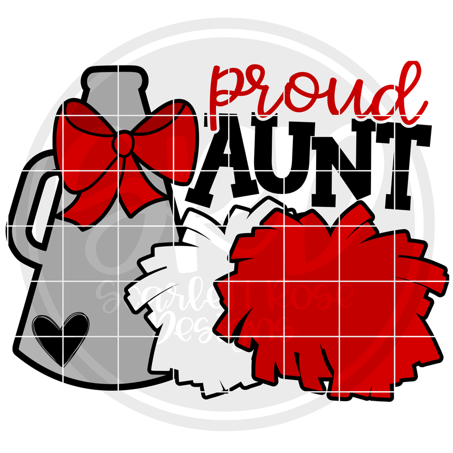 Cheerleading Gear - Proud Aunt SVG