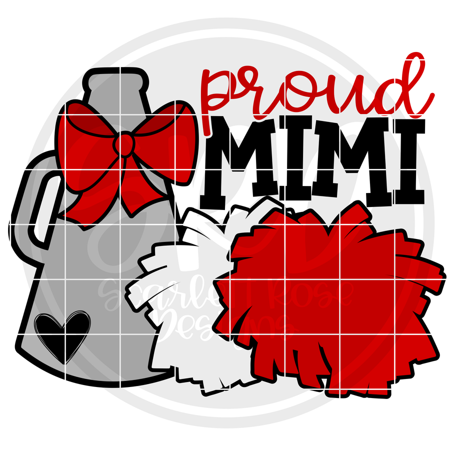 Cheerleading Gear - Proud Mimi SVG