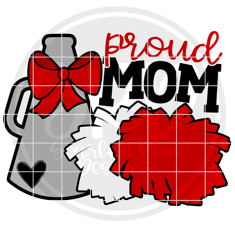 Cheerleading Gear - Proud Mom SVG