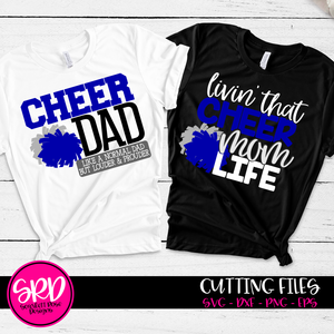 Cheer Dad - Cheer Mom SVG SET