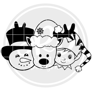 Christmas Friends - Boys 2019 - Black SVG