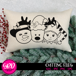 Christmas Friends - Girls 2019 - Black SVG