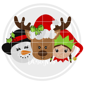 Christmas Friends - Girls 2019 SVG