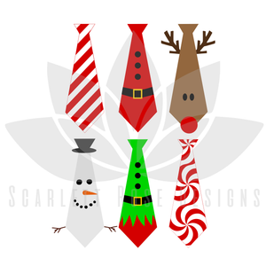 Christmas Ties SVG