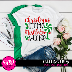 Christmas Time, Mistletoe and Wine, SVG