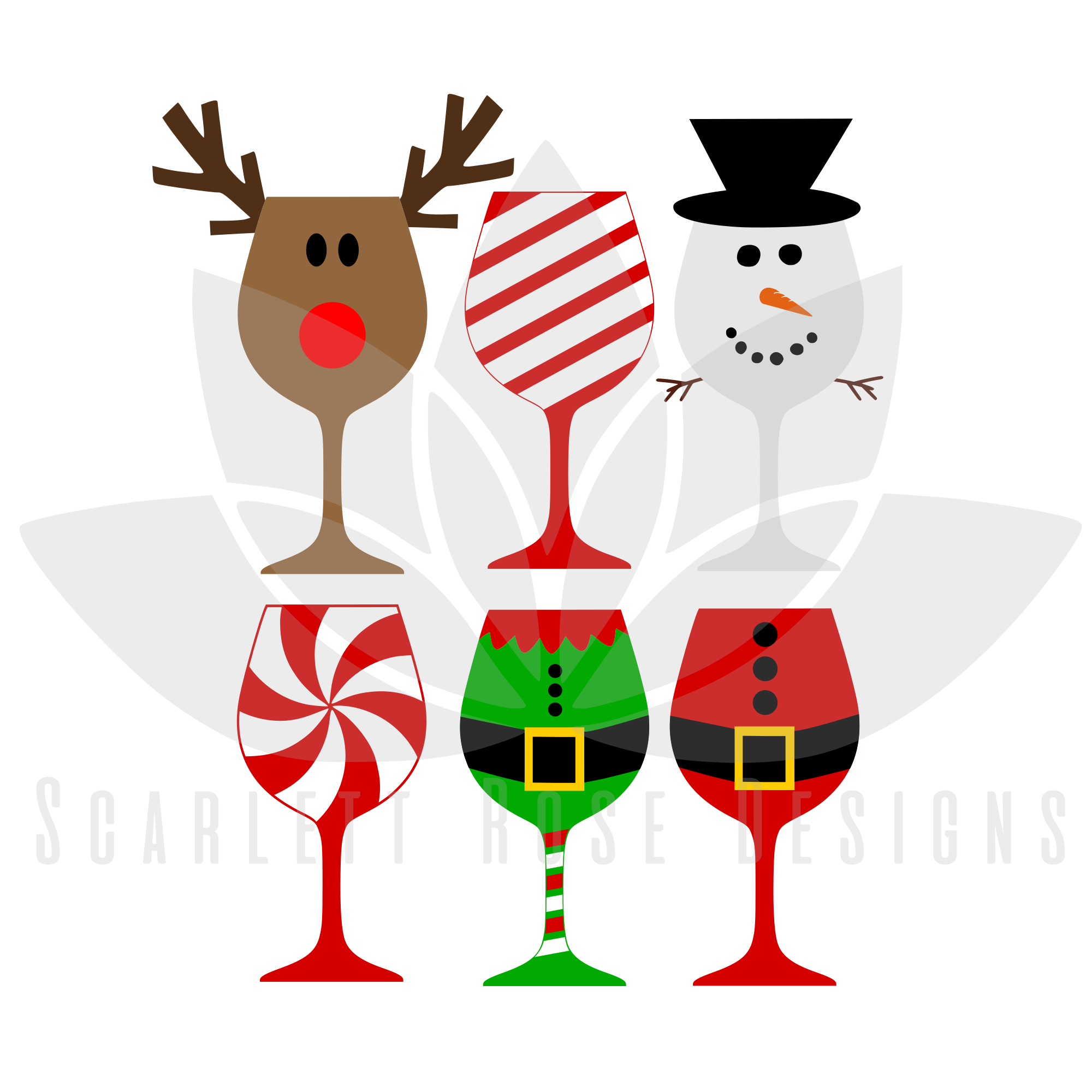 christmas svg christmas wine glasses cut file