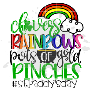 Clovers, Rainbows, Pots of Gold, Pinches SVG