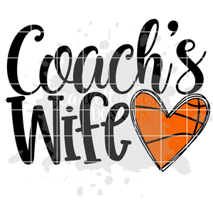 Coach's Wife - Basketball SVG