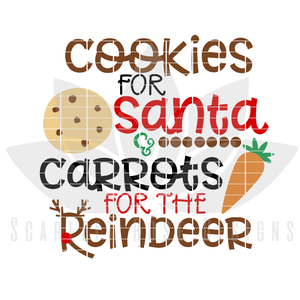 Christmas SVG, Cookies For Santa, Carrots for the Reindeer cut file, Santa Cookie Plate cut file