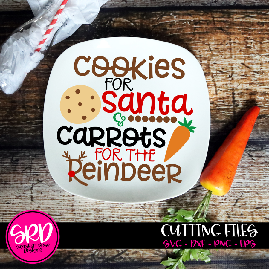 Cookies For Santa, Carrots for the Reindeer SVG