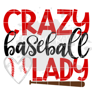Crazy Baseball Lady SVG