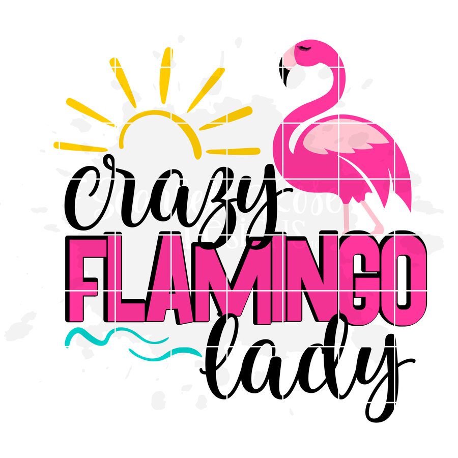 Crazy Flamingo Lady - 1 Flamingo SVG