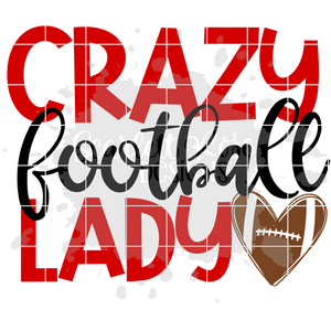 Crazy Football Lady SVG