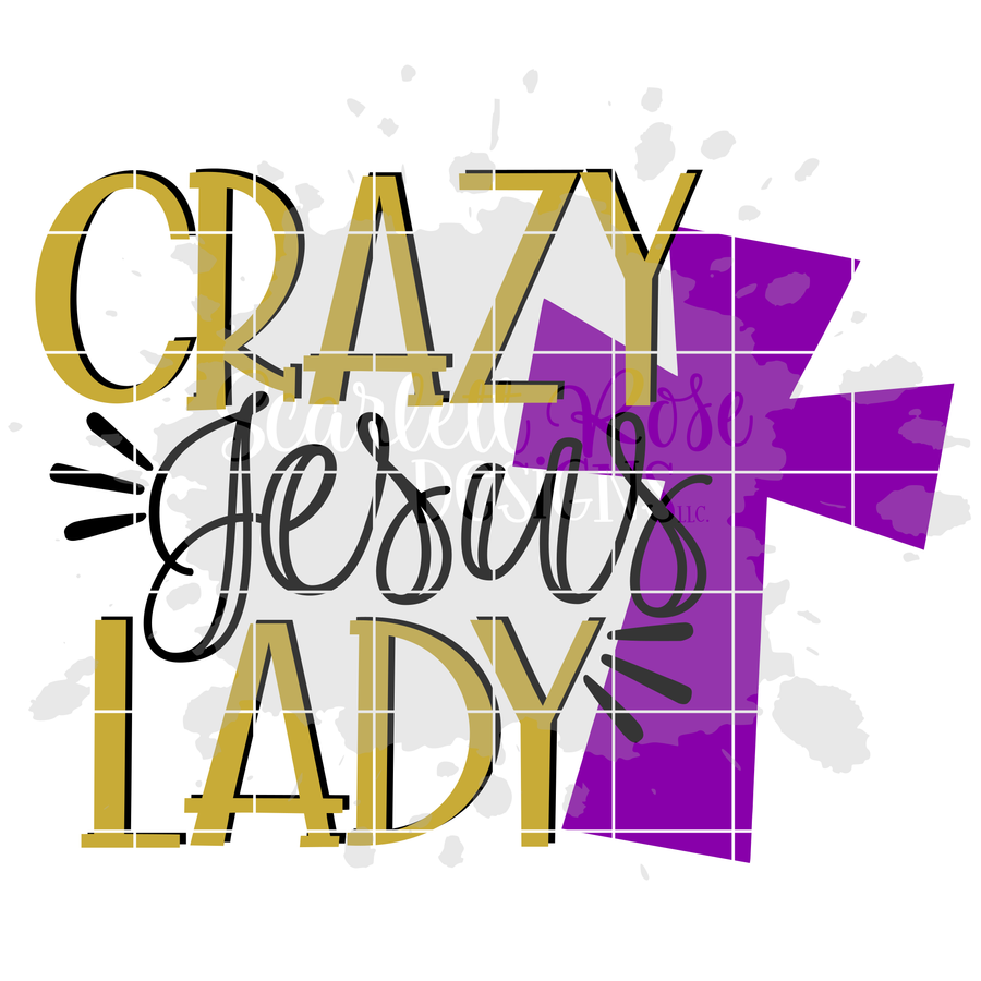 Crazy Jesus Lady SVG