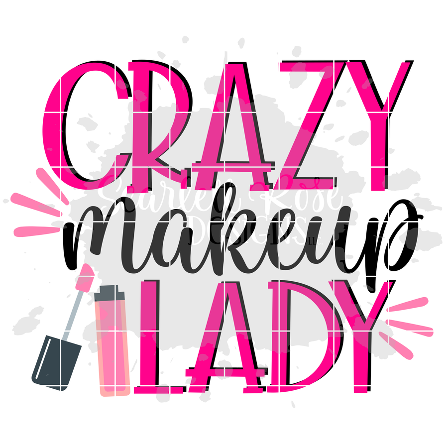 Crazy Makeup Lady SVG