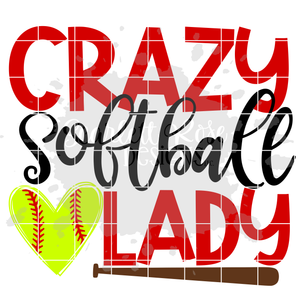 Crazy Softball Lady SVG