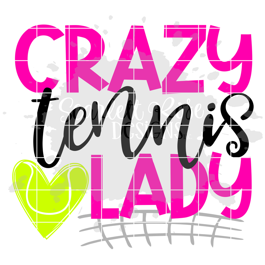 Crazy Tennis Lady SVG