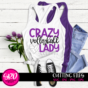 Crazy Volleyball Lady SVG