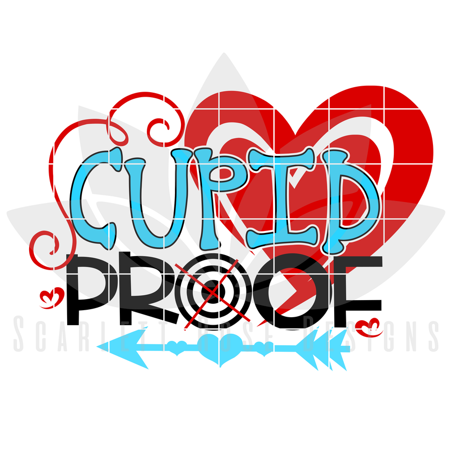 Valentine's Day SVG, DXF, Cupid Proof