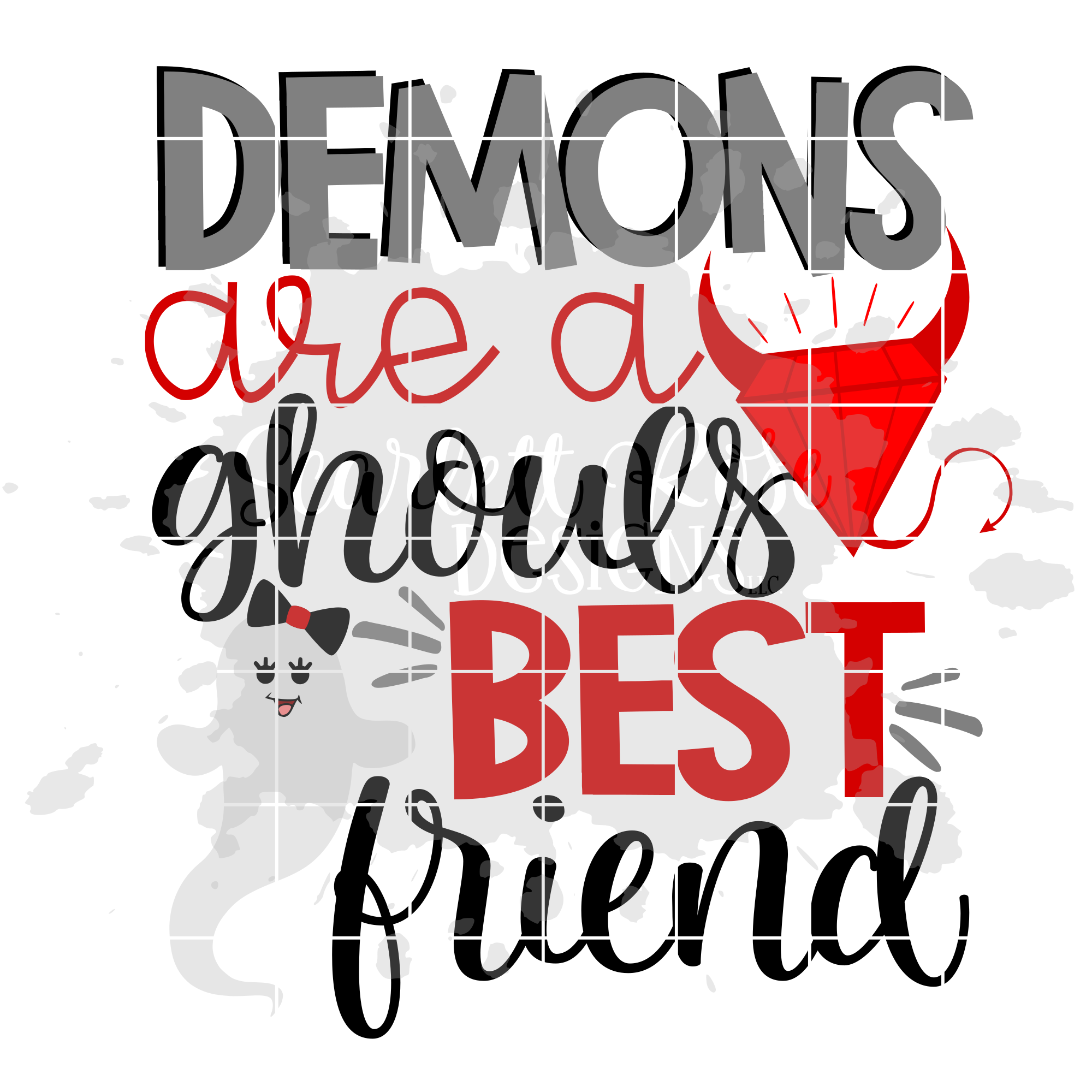 Halloween Svg Demons Are A Ghouls Best Friend Svg Scarlett Rose Designs