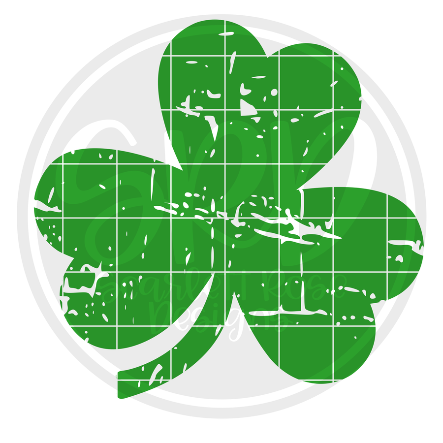Distressed Clover SVG
