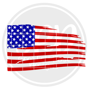 Distressed American Flag SVG