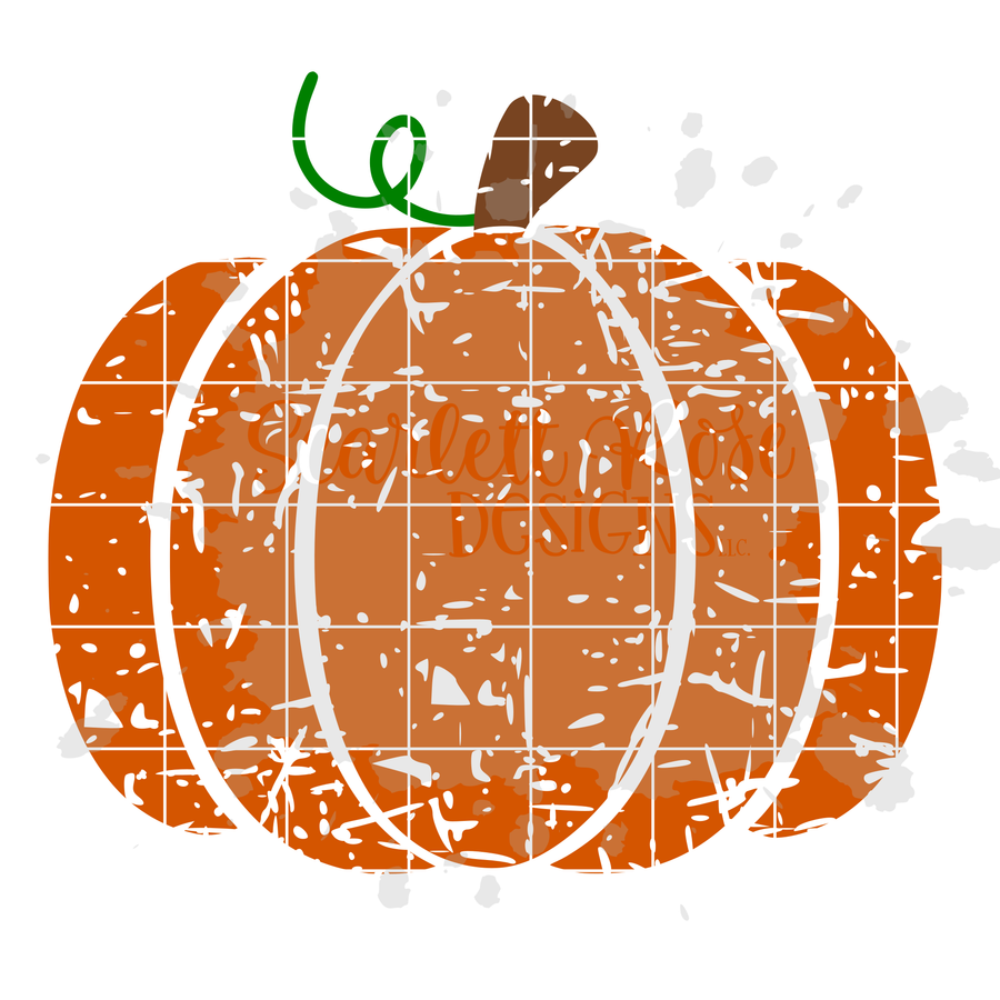 Distressed Pumpkin SVG