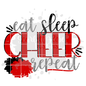 Eat Sleep Cheer Repeat - Cheer SVG