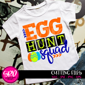 Egg Hunt Squad SVG