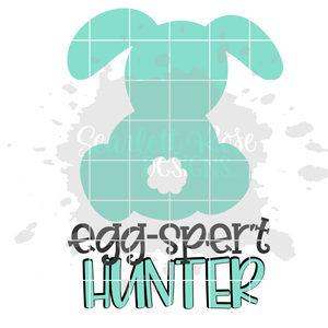 Egg-Spert Hunter SVG - Cottontail Bunny