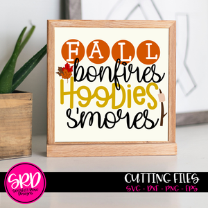 Fall Bonfires Hoodies S'mores SVG