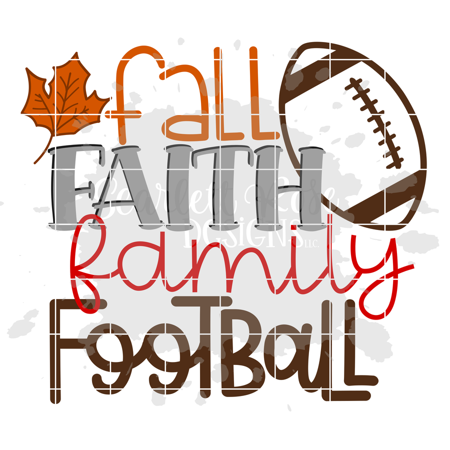 Fall Faith Family Football SVG