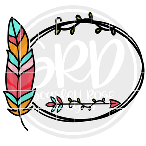 Feather Frame SVG - Personalize Yourself