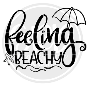 Feeling Beachy SVG - Black
