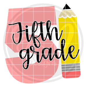 Fifth Grade 5 SVG -Pencil