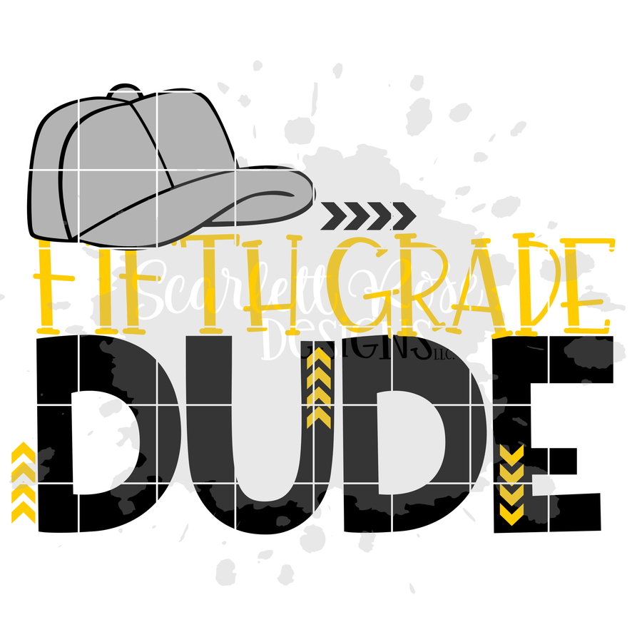 Fifth Grade Dude SVG cut file