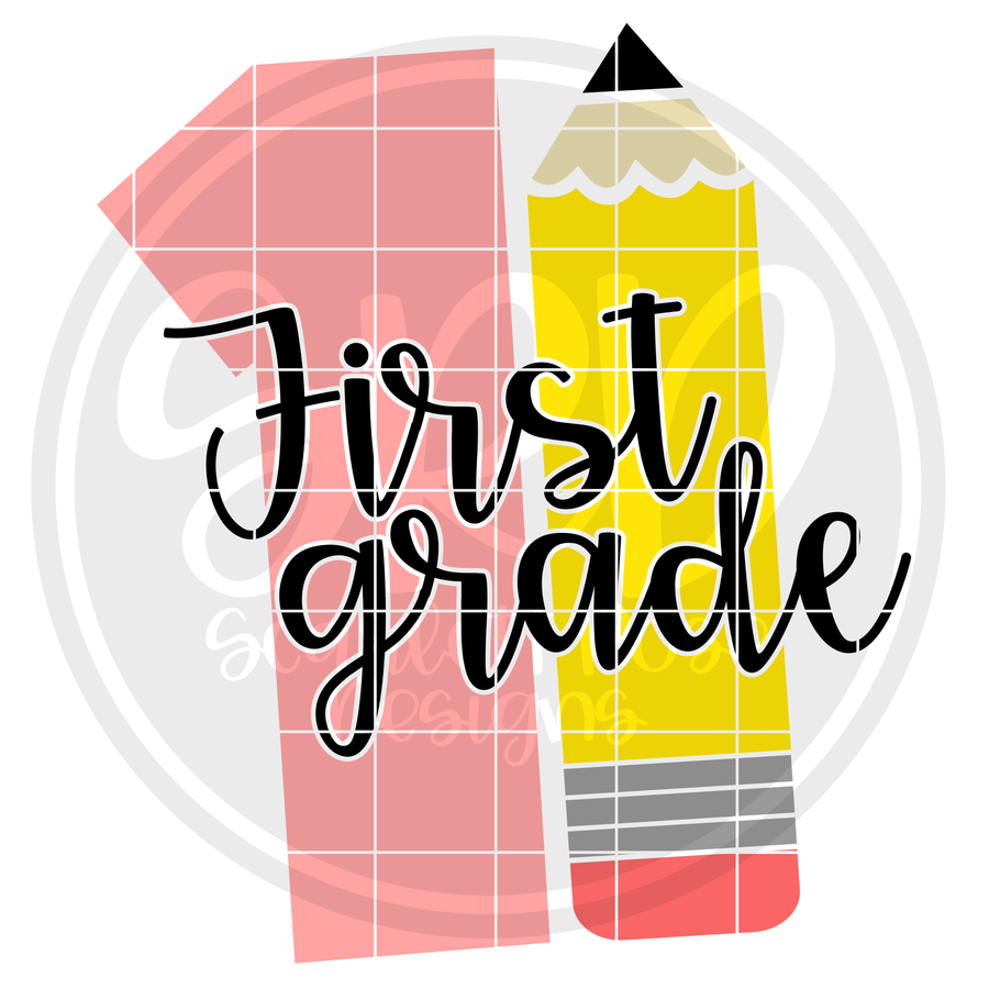 First Grade 1 SVG -Pencil