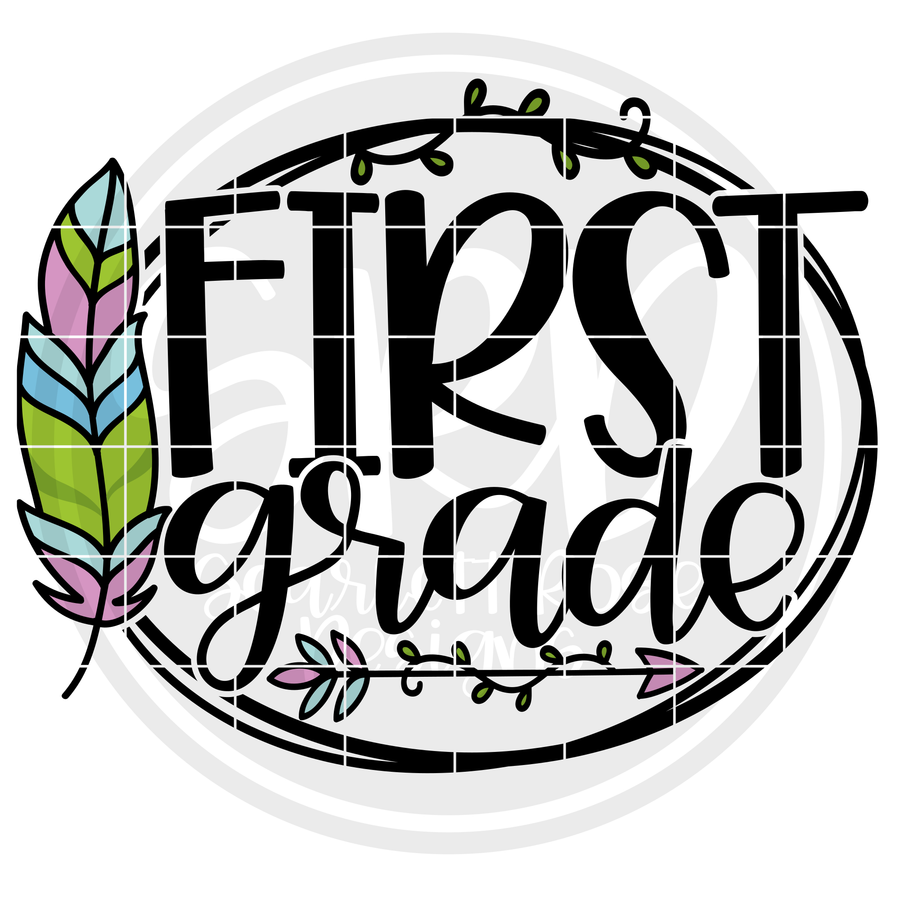First Grade - Feather SVG