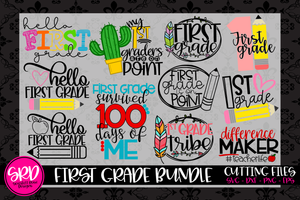 The First Grade SVG Bundle