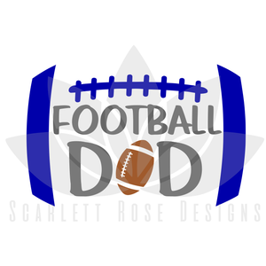 Football Dad SVG, Biggest Fan Football Dad cut file
