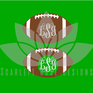 Football Font, Monograms SVG cut file, Football pattern SVG, EPS, PNG