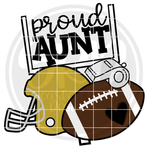 Football Gear - Proud Aunt SVG