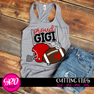 Football Gear - Proud Gigi SVG