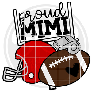 Football Gear - Proud Mimi SVG