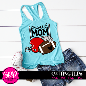 Football Gear - Proud Mom SVG