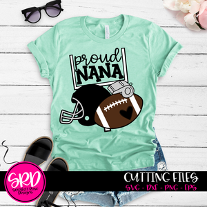 Football Gear - Proud Nana SVG