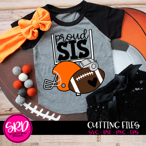 Football Gear - Proud Sis SVG
