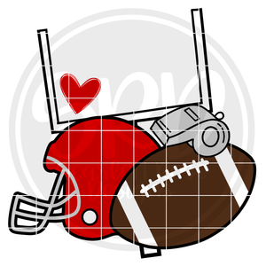 Football Gear SVG
