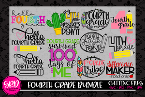 The Fourth Grade SVG Bundle
