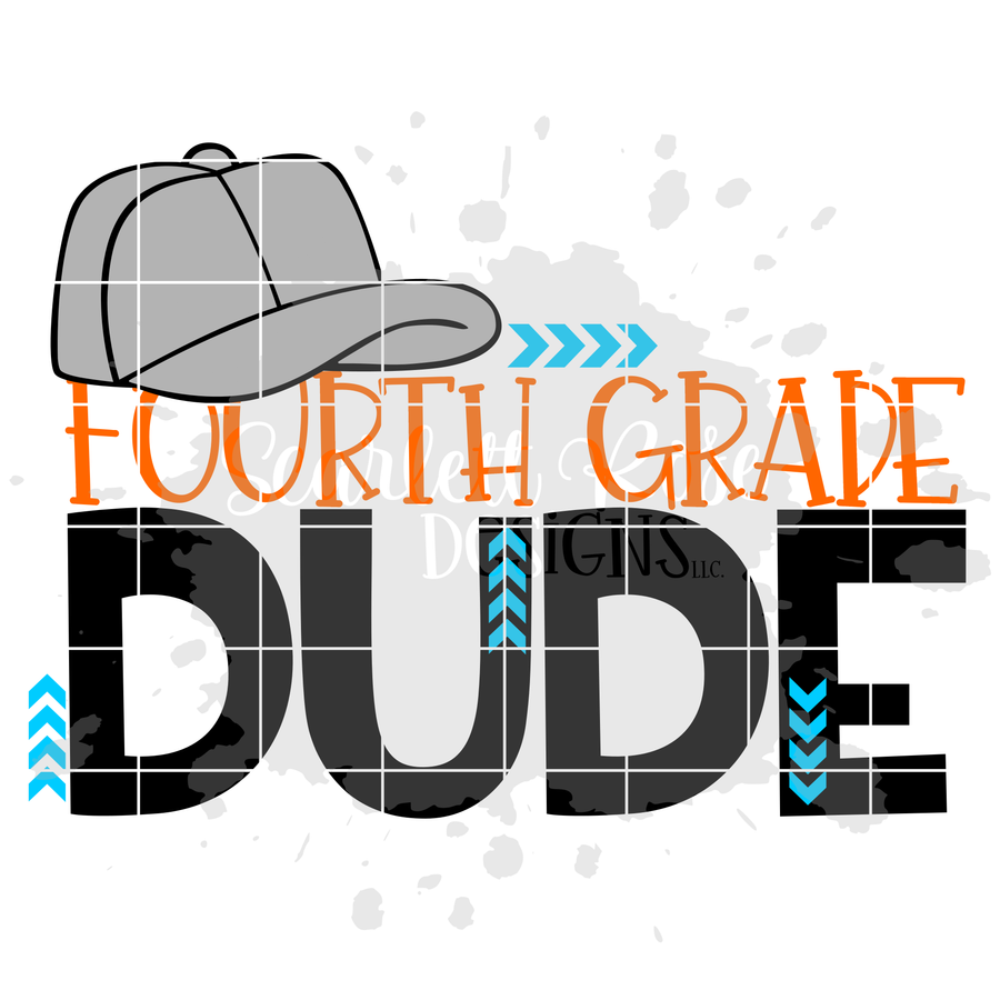 Fourth Grade Dude SVG cut file